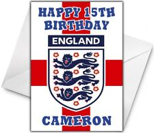 ENGLAND WORLD CUP Personalised Birthday Card / Christmas / Card - Large A5