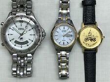 Flea Market Quartz Watch Lot of 3 Watches Fossil Disney Lorus Citizen Eco Drive