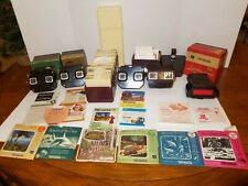 VINTAGE VIEW-MASTER LOT (4) VIEWERS, (240) REELS, VIEW-MASTER CONTAINER & MORE!