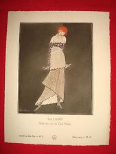 MODE FASHION COUTURE PRET A PORTER Gazette BON TON 1914 N° 3 PUGET POIRET