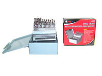 M2 #1 TO #60 HARDENED  60pc HSS NUMBERED DRILL BIT SET WITH METAL INDEX BOX
