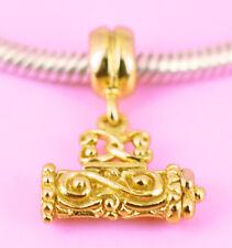 Vermeil GOLD ANTIQUE Style Dangle BEAD For Charm Bracelet / Necklace OZ Stock