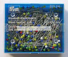 PRYM 30mm ( 1 1/4 Inch ) GLASS HEADED SEWING PINS N0 9