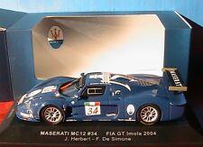 MASERATI MC12 #34 FIA GT IMOLA 2004 HERBERT DE SIMONE IXO GTM021 1/43 GRAND PRIX