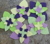 20 Wool Blend Die Cut Applique Flowers - Daffodil Garden