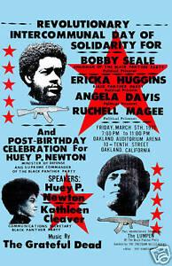 Jerry Garcia & Grateful Dead at the  Black Panther Concert Poster 1971  12x18