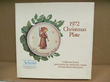 Schmid Hummel Angel With Flute Annual Christmas 1972 Ltd Plate with Box