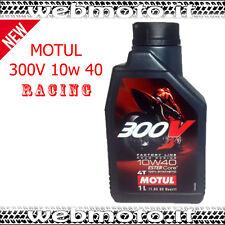 1 LITRO OLIO MOTORE MOTUL 300V 300 V 4T 10W40 100% SINTETICO MOTO FACTORY LINE