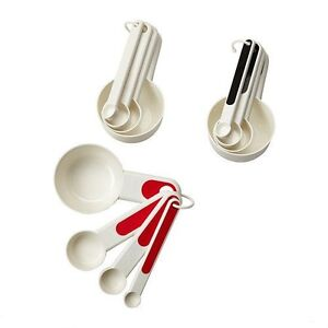 IKEA STAM Set of 4 Measuring Cups Choice of Colour Red, Black or White