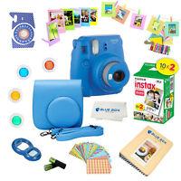 Fujifilm Instax Mini 9 Camera Cobalt Blue + 20 Film Sheets + 15 PC Accessory kit