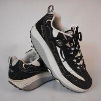 Sketchers Shape Ups Shoes Women Size 9 Fitness Toning Black White 11809EW