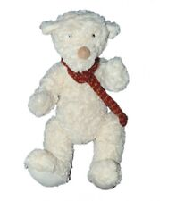 Doudou peluche Ours blanc Echarpe Mika Moulin Roty 38 cm