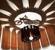Unique Motorcycle shadow Bottle Chandelier Light Made in the USA, Harley