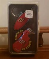 NASCAR GIFT SET Dale Earnhardt Jr Key Chain Light Up Lighter Collectible Tin NEW