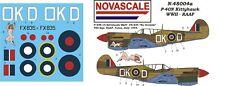 RAAF P-40N Kittyhawk Mini-Set Decals 1/48 Scale N48004a