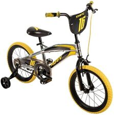 16 in. Boys Mountain Bike Metaloid Finish, Steel Curved Frame and Unicrown Fork