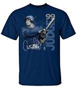 New York Yankees MLBPA AARON JUDGE #99 Star Paint Youth Boys Cotton T Shirt Navy