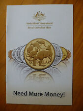 ROYAL AUSTRALIAN MINT 2010 COIN COLLECTING BOOKLET..BLINKY BILL..LITTLE DINKUMS