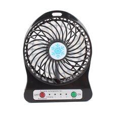Portable rechargeable desktop LED light fan air cooler mini USB fan for home use