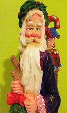 Lenox 1997 Santa Claus Figurine / 'Wreath Bearer' excellent, vibrant colors