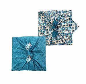 Wiederverwendbares Geschenkpapier Furoshiki - Doppelseitig (umkehrbar)