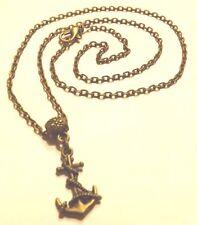 collier 46 cm avec pendentif ancre marin 19x11 mm couleur bronze