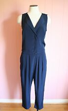 J Crew Sleeveless Trench Jumpsuit 8 Navy Jumper NWT