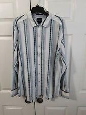 Tommy Bahama Negrillin Stripe L/S Shirt Men's Size XL 50648 Bright Cobalt