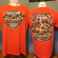 2014 Dirt Car Nationals T Shirt Size L Double Sided Volusia Florida 43rd Annual