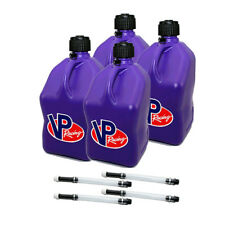 4 Pack VP Racing Purple 5 Gallon Square Fuel Jug/4 Deluxe Hoses/Water/Gas Can