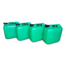 4 x 20 Liter Dieselkanister Benzinkanister UN-Zulassung grün inkl. Ausgießer NEU