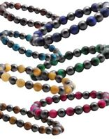 Bio Magnetic Hematite Colorful Healing Stretch 8mm Beaded Bracelets