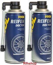 2 xMANNOL 9906 REIFEN DOCTOR REIFENDICHTMITTEL REIFENREPARATUR PANNENHILFE 450ML
