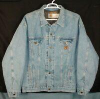 Vintage Carhartt JB1908 Blanket Lined Denim Jacket Made In USA Mens 2 XL Tall