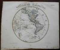 Western Hemisphere New Zealand North/South America 1844 Stulpnagel detailed map