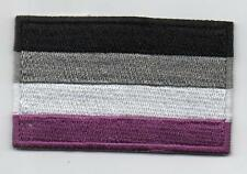 Embroidered ASEXUAL PRIDE Flag Iron on Sew on Patch  HIGH QUALITY APPLIQUE