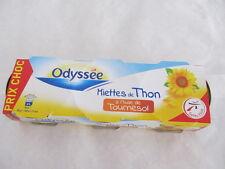Odyssee Thunfisch Stückchen in Sonnenblumenöl, Füllmenge 3x80g / ATG 3x52g