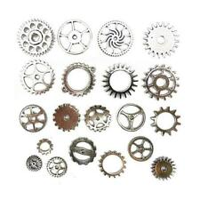 Buddly artisanat industriel engrenages métal charms - 20pcs ton argent AS6