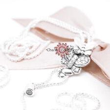 Pandora S925, Dazzling and Dancing Butterflies Necklace,  397911CZ, 80cm Chain