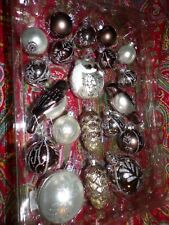 POTTERY BARN SILVER CRITTER ORNAMENTS SET, NEW, SET OF 20 ORNAMENTS
