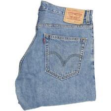 Levi's 505 Men Blue Straight Regular Jeans W34 L34 (51191)