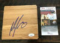 Myles Turner (Indiana Pacers/Texas Longhorns) Signed 6x6 Floorboard W/ JSA COA