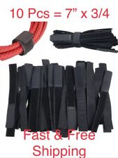 "10 VELCR Brand Ties Cable Cord Organizer Wraps Reusable Die Cut Straps 7"" Black"