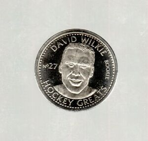 NHL 1996-97 Hockey Greats Coin #27- David Wilkie  NEW