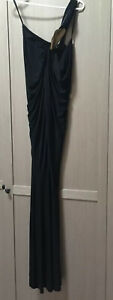 DONNA KARAN COLLECTION Black Jersey Evening Gown EXTRA SMALL worn Once