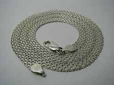 A CONTINENTAL STERLING SILVER CHAIN MESH NECKLACE MESH CHAIN by FAS Italy c1980s