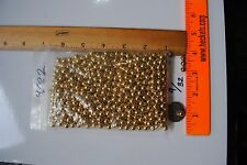 """50 Solid 9/32"""" SOLID Brass Metal Beads GOLD craft lure bait new custom plated"""