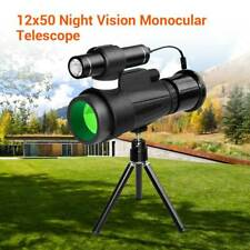 12*50 WiFi Infrared Night Vision Monocular Telescope+Tripod Portable For Outdoor