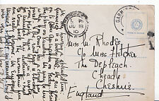 Genealogy Postcard - Family History - Rhodes - Cheadle - Cheshire   A1662