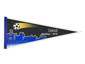 1994 Detroit World Cup Soccer Felt Full Size Pennant Wincraft USA